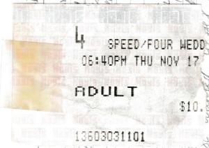 Speed cinema tickets