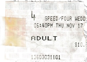 Speed cinema tickets
