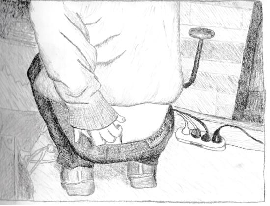 J butt sketch