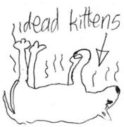 small dead cats